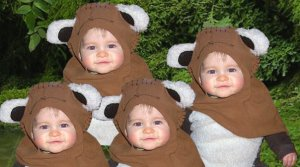 No, you're not hallucinating, there are four baby Ewoks.