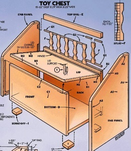 How to Build wooden bench toy box plans PDF Download