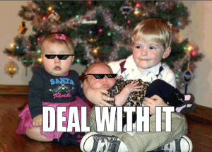 The cousins Christmas portrait was a bust. Nothing a meme can't fix!
